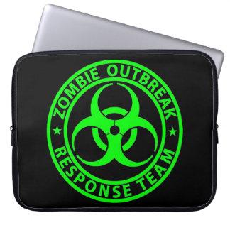 Zombie Outbreak Response Team Neon Green Laptop Computer Sleeve