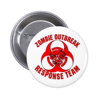 Zombie Outbreak Response Team Pinback Buttons
