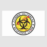 Zombie Outbreak Response Team Rectangular Stickers
