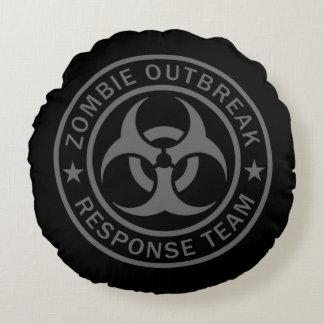 Zombie Outbreak Response Team Round Pillow