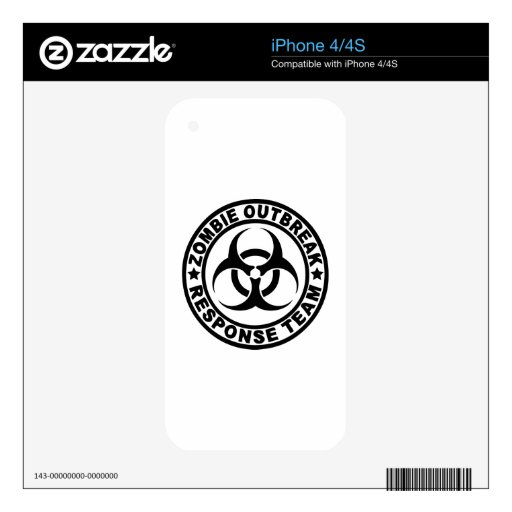 Zombie Outbreak Response Team Decal For The iPhone 4S