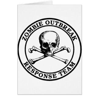Zombie Outbreak Response Team (Skull Crossbones) Card