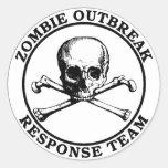 Zombie Outbreak Response Team (Skull Crossbones) Classic Round Sticker