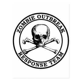 Zombie Outbreak Response Team (Skull Crossbones) Postcard