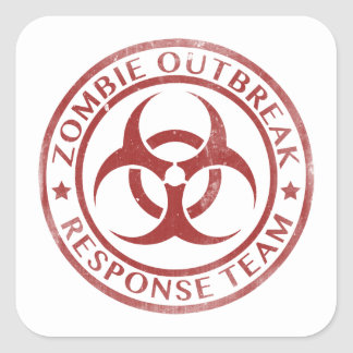 Zombie Outbreak Response Team Square Sticker