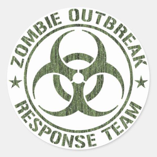 Zombie Outbreak Response Team Round Sticker