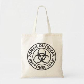 Zombie Outbreak Response Team tote Bags