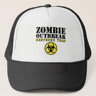 zombie outbreak response team undead walking dead trucker hat
