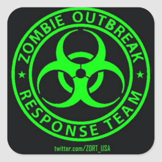 Zombie Outbreak Response Team USA Square Sticker
