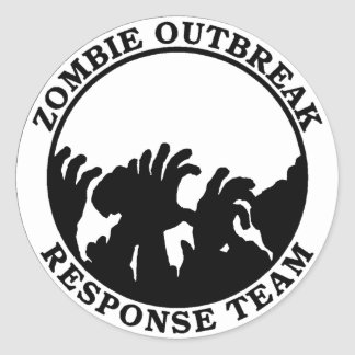 Zombie Outbreak Response Team (Zombie Hands) Classic Round Sticker