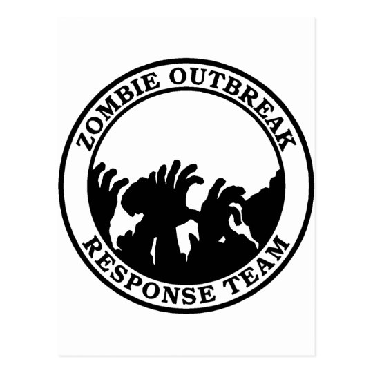 Zombie Outbreak Response Team (Zombie Hands) Postcard