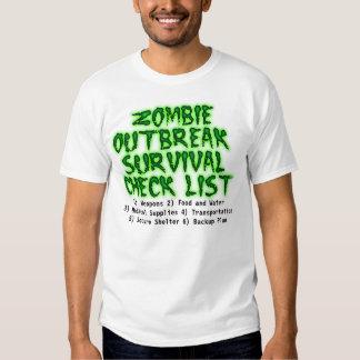 Zombie Outbreak Survival Check List Shirt