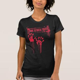 Zombie Outbreak Survivor Babydoll Tshirt