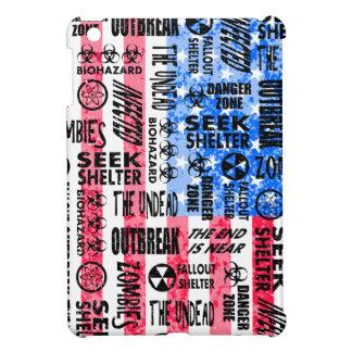 Zombie, Outbreak, Undead, Biohazard American Flag iPad Mini Cases
