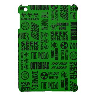 Zombie, Outbreak, Undead, Biohazard Black & Green iPad Mini Case