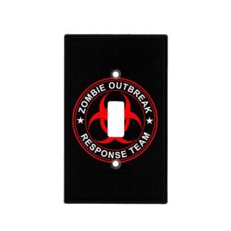 Zombie Outbreak Walking Response Team Dead TV Light Switch Cover