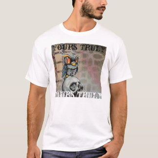 zombie owl and skull yours truly t shirt
