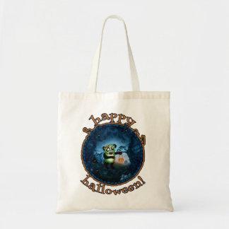 Zombie Panda Happy Halloween Tote Bag