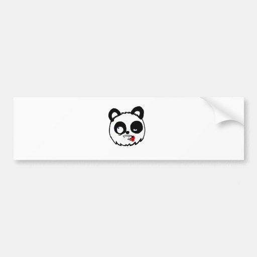 Zombie Panda Head Bumper Stickers