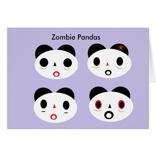 Zombie Pandas Card