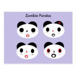 Zombie Pandas Post Cards
