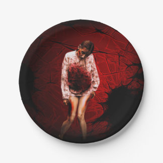 Zombie paper plates 7 inch paper plate