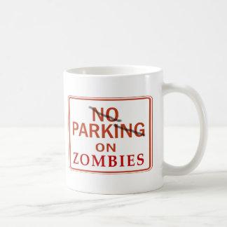 Zombie Parking Classic White Coffee Mug