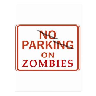 Zombie Parking Postcard