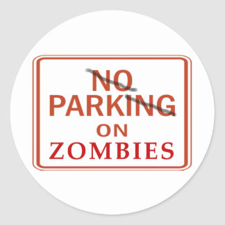 Zombie Parking Round Sticker