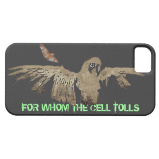 "Zombie Parrot ""For Whom Cell Tolls"" iPhone 5 Case"