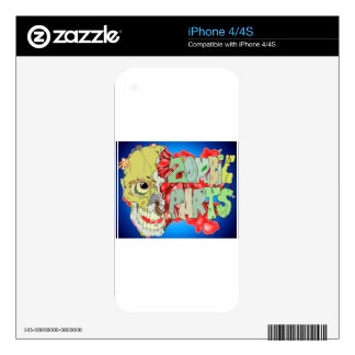 Zombie Parts Skins For iPhone 4