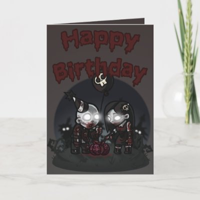 Say Happy Birthday with this Zombie Party re-designed c