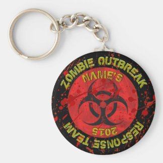 Zombie Party favors! Add Child's NAME! OUTBREAK! Keychain
