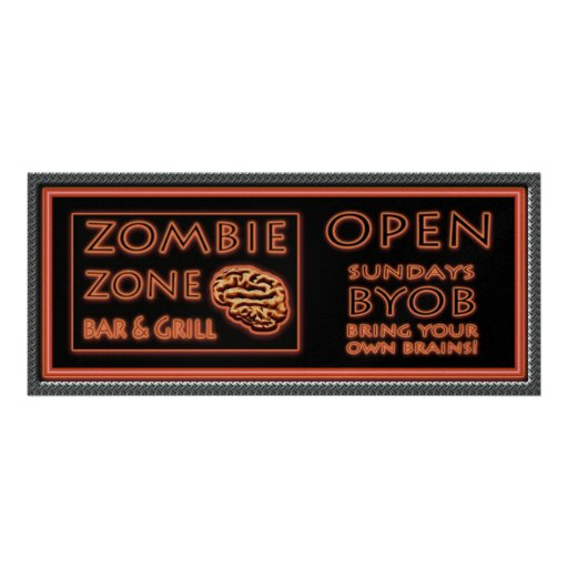 Zombie Party Invitations Bloody Marys On The House