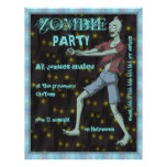 Zombie Party template for Full Color Flyer