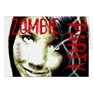 Zombie Party Undead Teen Girl with wounds Card