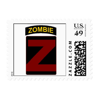 Zombie Patch and Tab postage stamp