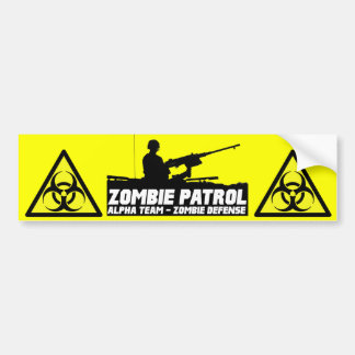 Zombie Patrol - Alpha Team Bumper Sticker Car Bumper Sticker