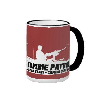 Zombie Patrol - Alpha Team, Zombie Defense Ringer Mug