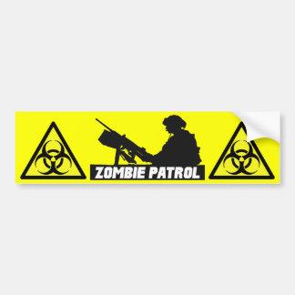 Zombie Patrol - On the Gun Bumper Sticker Car Bumper Sticker