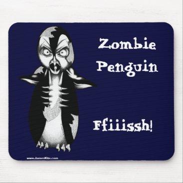 serenitystudios Zombie Penguin: Ffiiissh! Mouse Pad