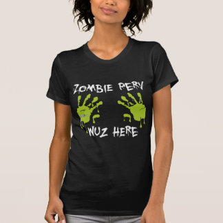 Zombie Perv Wuz Here - Green T-shirts