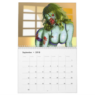 Zombie Pin-Up Calendar