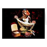 Zombie Pin Up Card