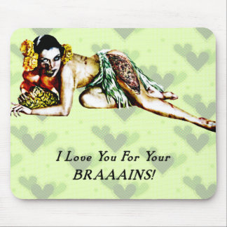 Zombie Pin Up Mouse Pad