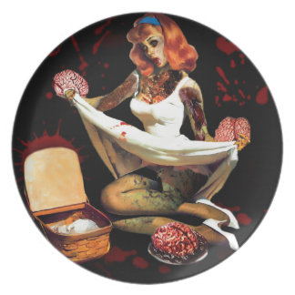 Zombie Pin Up Plate
