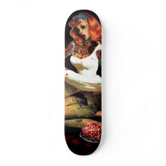Zombie Pin Up Skateboard skateboard