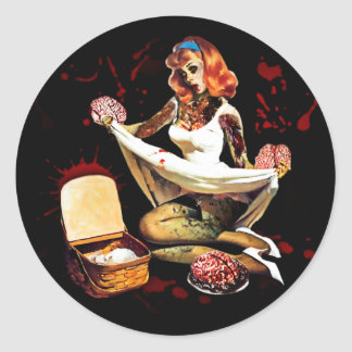 Zombie Pin Up Sticker