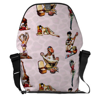 Zombie Pin Ups Courier Bag