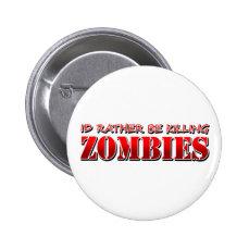 Zombie Pinback Button